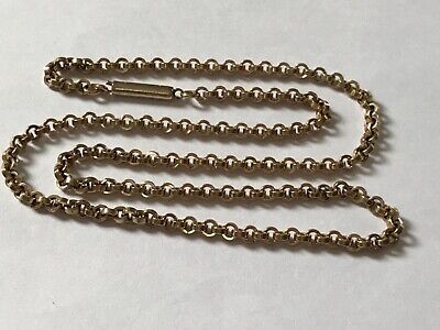 Antique Victorian Edwardian 9 ct gold plated barrel chain necklace. 17 1/2""