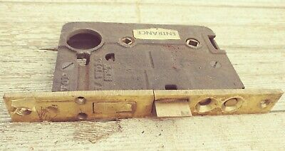 "Large Industrial Mortise Lock F: 7 3/4"" x 1 1/8""  B: 5 1/2"" x 3 3/4"" x 7/8"""