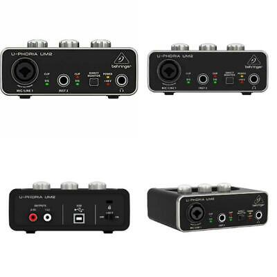 U-phoria UM2 with USB Audio Interface for Recording Microphones and Instruments