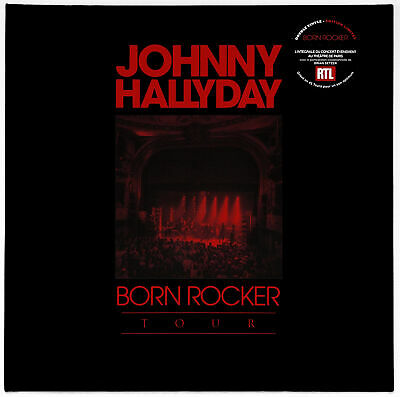JOHNNY HALLYDAY - 2 x LP VINYLE BORN ROCKER TOUR - CONCERT THEATRE DE PARIS 2013