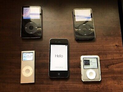 Lot 5x Apple iPod iPhone Video Classic 30GB Classic Nano