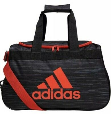 bb246a3a4f23 NWT ADIDAS Diablo Small II Duffel Gym Bag Expandable Fits Gym Locker Gray  Red