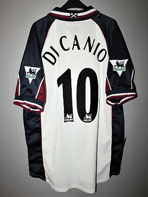 8545bd11438 West Ham United 1999 2000 2001 Away Football Shirt Jersey #10 Di Canio Fila