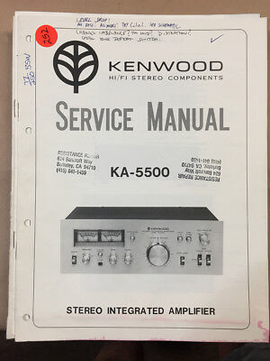 Kenwood KA-5500 Amplifier Service Manual *Original*