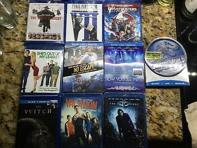 Lot of 10 Sealed Brand New Blu- ray Movies Film Collection.
