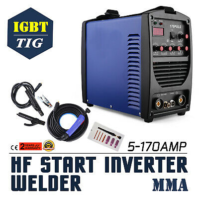 170A MMA/ARC DC Inverter Pulse Welder With Lift TIG LED  +Complete Kit HF Start