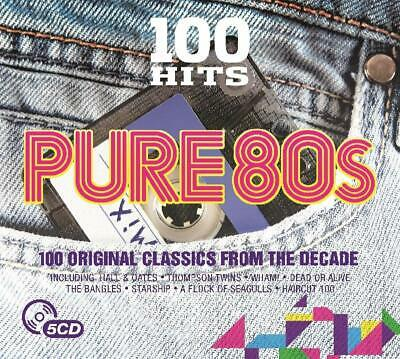 100 Hits - Pure 80s by Various Artists New 5 CD Box Set / Free Delivery