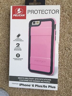 Authentic Pelican ProGear Protector Case For iPhone 6 Plus/6s Plus - Pink/Gray