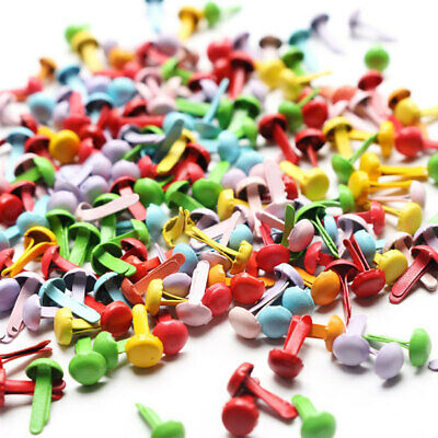Lots 200x Mini Brads 4.5mm Paper Craft Fasteners For Cardmaking Scrapbooking DIY