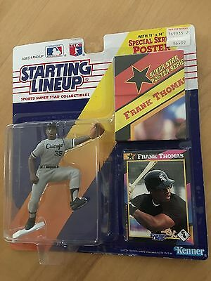Kenner 1992 Starting Lineup MLB Frank Thomas #35 Chicago Clubs MOC Poster /& Card