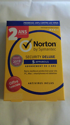 Norton Security Deluxe 2019 2 Ans 5 Appareils PC-Mac-Android-iOS