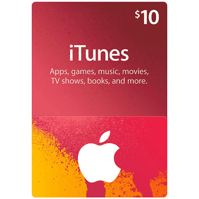 iTunes Gift Card $10 USD USA Apple iTunes KEY $10 United States