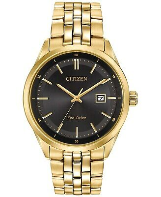 Citizen Men's Eco-Drive Gold-Tone Stainless Steel Watch. 41 mm. BM7252-51E.