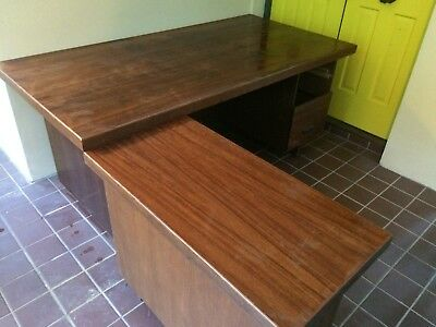 1960's Executive Desk. Solid Timber with Timber Veneer