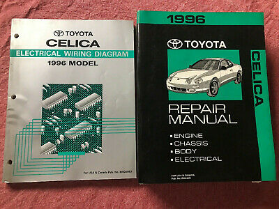 toyota celica electrical wiring diagram repair manual 1996 dealership  service
