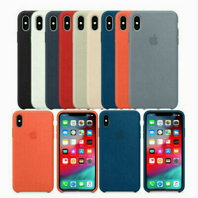 Genuine Original OEM Soft Silicone Case Cover for Apple iPhone XR XS MAX case