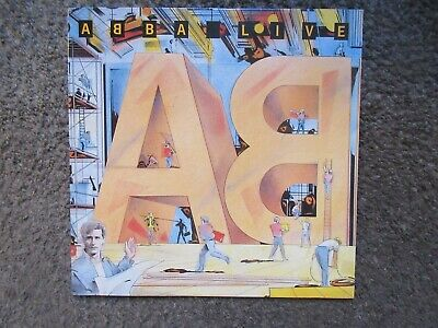 "Abba ""live"" 1986 Atlantic Records Ex/ex Out Of Print Lp Promo Stamped"