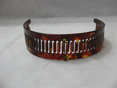 Vintage faux TORTOISE SHELL HEAD BAND Early 1900's Made in France Women hair #2