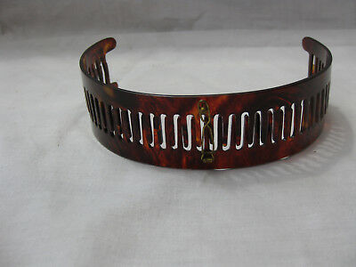 Vintage faux TORTOISE SHELL HEAD BAND Early 1900's Made in France Women hair #1