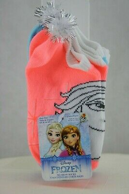Disney  Frozen 5 Pair Girls Socks Size 6-10.5