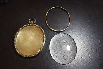 Large Antique Black Starr And Frost Sterling Vermeil Cameo Frame 1908