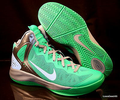 96ea2564df0a Nike Zoom Hyperenforcer PE Men s Basketball Shoes Lucky Green 487655-300  NIB DS