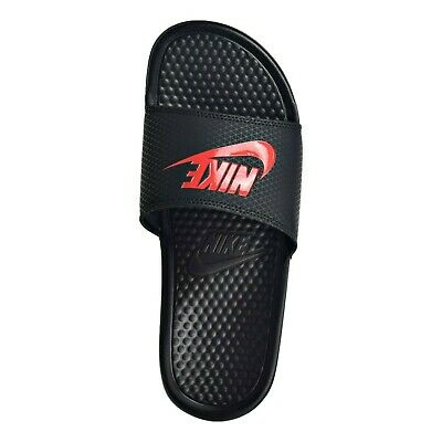 best website a9efa 18edb Nike® Benassi JDI Solarsoft Mens Slide Sandals BLACK RED size 8