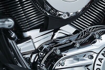 Kuryakyn Cylinder Base Cover for Indian Models EXCEPT SCOUT 14-18 Chrome 5645