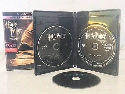 Harry Potter and the Sorcerers Stone 4K w/ Slip Cover (Blu Ray + 4K UHD) 3 DISCS