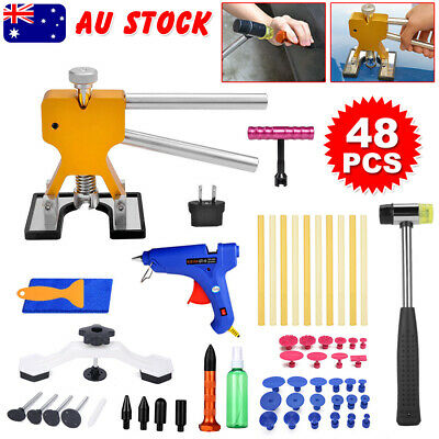 48 Paintless PDR Puller Dent Lifter Hail Removal Car Board Repair Glue Gun Tools