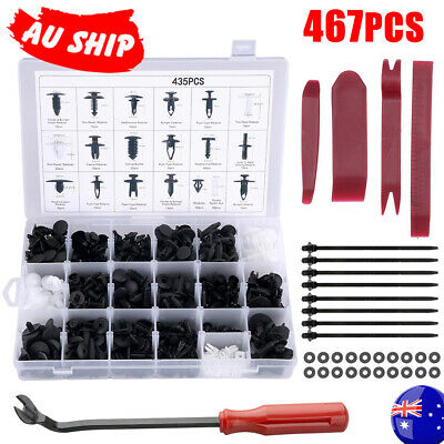 467PCS Car Trim Body Plastic Clips Kit Rivet Door Retainer Panel Fastener Bumper
