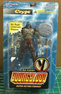 NEW UNOPENED 1995 McFarlane Toys Youngblood Crypt Action Figure Spawn image