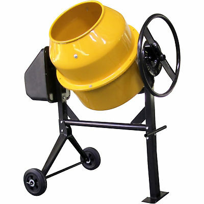 120L Litres Drum Electric Cement Concrete Plaster Mortar Mixer Portable