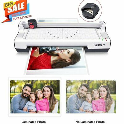 Thermal Laminator Machine Set Aluminum Alloy A4 Photo Card Office 10 Pouches UK