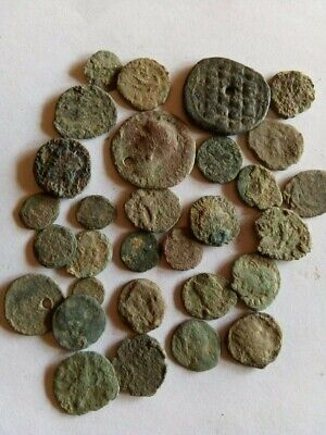 013.Lot of 30 Ancient Roman Bronze Coins,Uncleaned