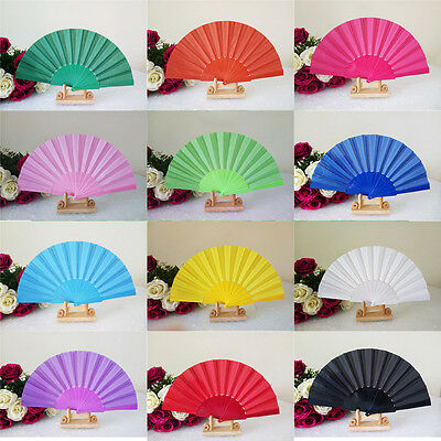 Chinese Spanish Style Dance Party Wedding Floral Lace Silk Folding Hand Held Fan