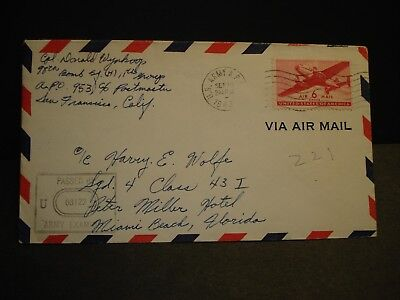 APO 953 HICKAM FIELD, HAWAII 1943 Censored WWII Army Cover 98th BOMB Sq (H)