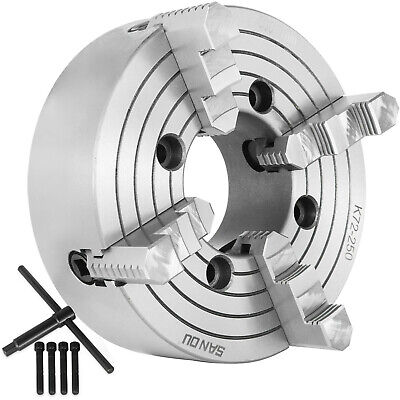 "K72-250 10"" 4 Jaw Lathe Chuck Independent Plain Back 250mm Grinding Machine"
