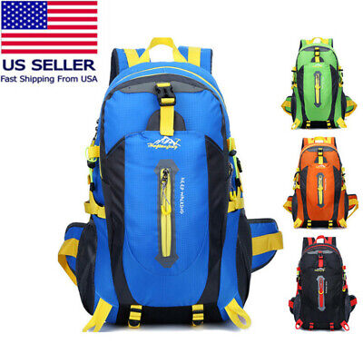 40L Outdoor Sports Camping Waterproof Nylon Travel Luggage Rucksack Backpack Bag