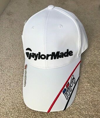 White Taylormade M4 Golf Cap Hat Magnetic Ball Marker One Size Adjustable UK