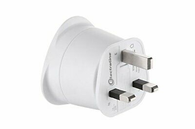 Electraline 70053 Adaptateur de voyage France/Europe vers UK 2 Broches Eu(UK)