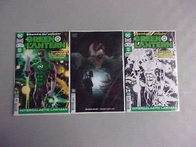 Green Lantern #1 2018 3 Cover Variant Set (Blank/quitely/midnight Release/main)