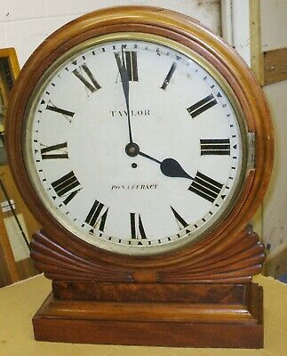 Very Large Single Fusee Gallery Clock With Passing Strike On Bell