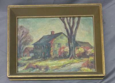 Antique Impressionist American Landscape Oil Painting Deerfield Massachusetts