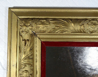 "Large Antique Wood frame Carved french Gold 26""x29"" Rembrandt Oil Paint"