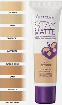 Rimmel London Stay Matte Liquid Mousse Foundation 30Ml Rrp£6.99  - All Shades