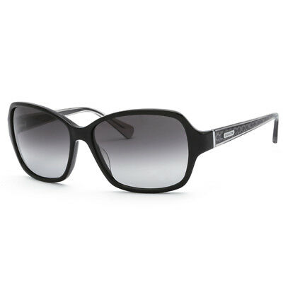 18a137cf0b New Authentic COACH HC S2049 Womens Black Frame   Grey Gradient Lens  Sunglasses