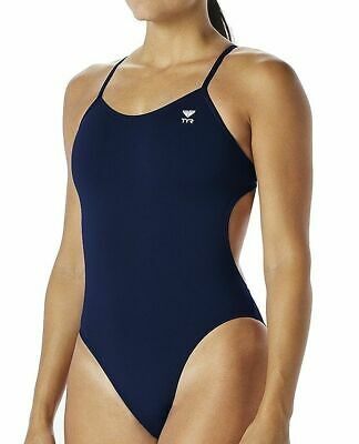 4655a28ad771b TYR SOLID TRINITYFIT One-Piece Swimsuit Women s size 32 Black Pink ...
