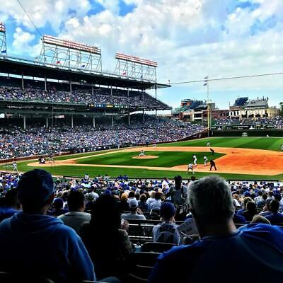 4 tickets - Padres @ Cubs Wrigley Field 04/10/2019 - no obstruction