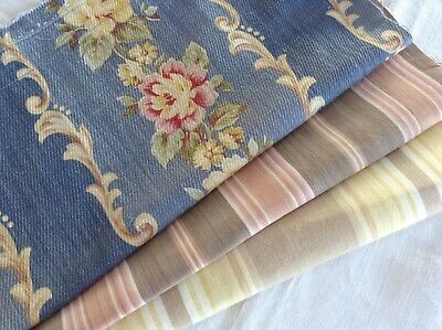Vintage Antique French Fabric 6 piece pack bundles for projects sewing dolls